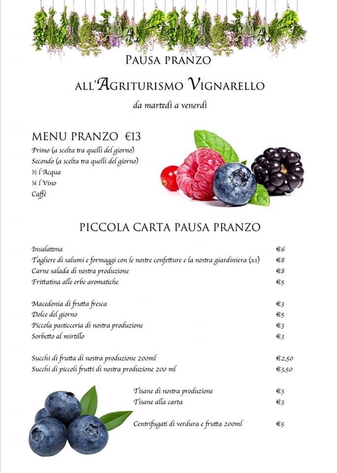 Pausa pranzo all'Agriturismo Vignarello