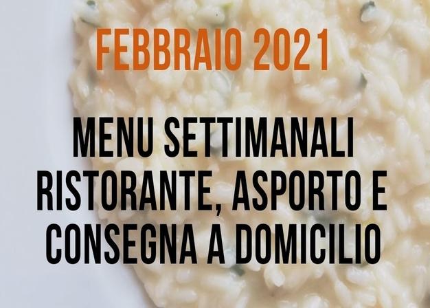 Il menu di Vignarello per febbraio (al ristorante a pranzo in zona gialla, asporto e consegna a domicilio)